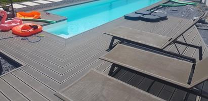 Decking  WPC piscina Deck-uri si pardoseli din WPC