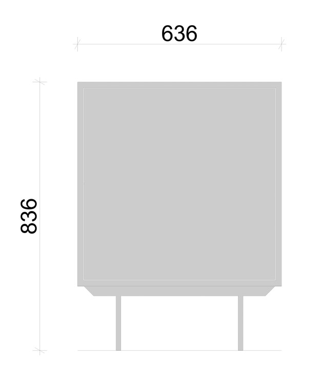 Schiță dimensiuni Comoda cu un modul - COD