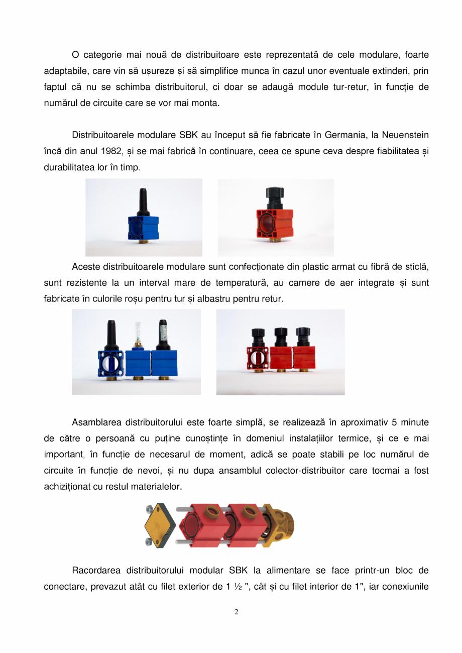 Pagina 2 - Prezentare distribuitoare modulare pentru incalzirea in pardoseala SBK HKV3000, TWINCO...