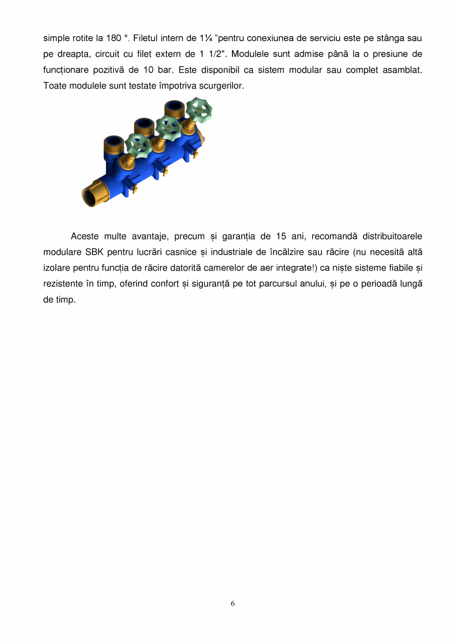 Pagina 6 - Prezentare distribuitoare modulare pentru incalzirea in pardoseala SBK HKV3000, TWINCO...