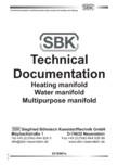 Date tehnice pentru distribuitoare modulare pentru incalzirea in pardoseala SBK - HKV3000, TWINCO 3000, 4001