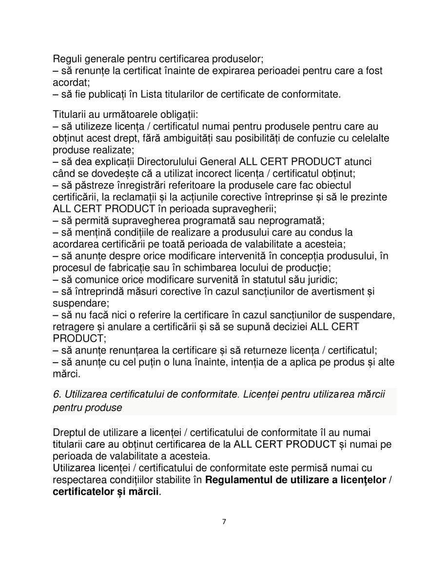 Pagina 7 - Certificare produse constructii ALL CERT PRODUCT Catalog, brosura Romana ive, dar nu mai ...