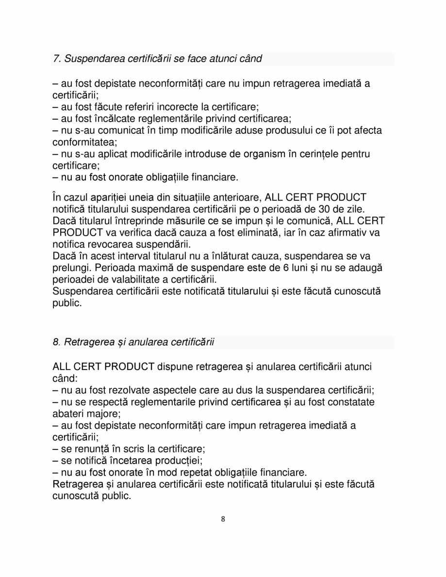 Pagina 8 - Certificare produse constructii ALL CERT PRODUCT Catalog, brosura Romana ății și se...