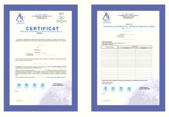 Servicii de Certificare a produselor pentru constructii ALL CERT PRODUCT