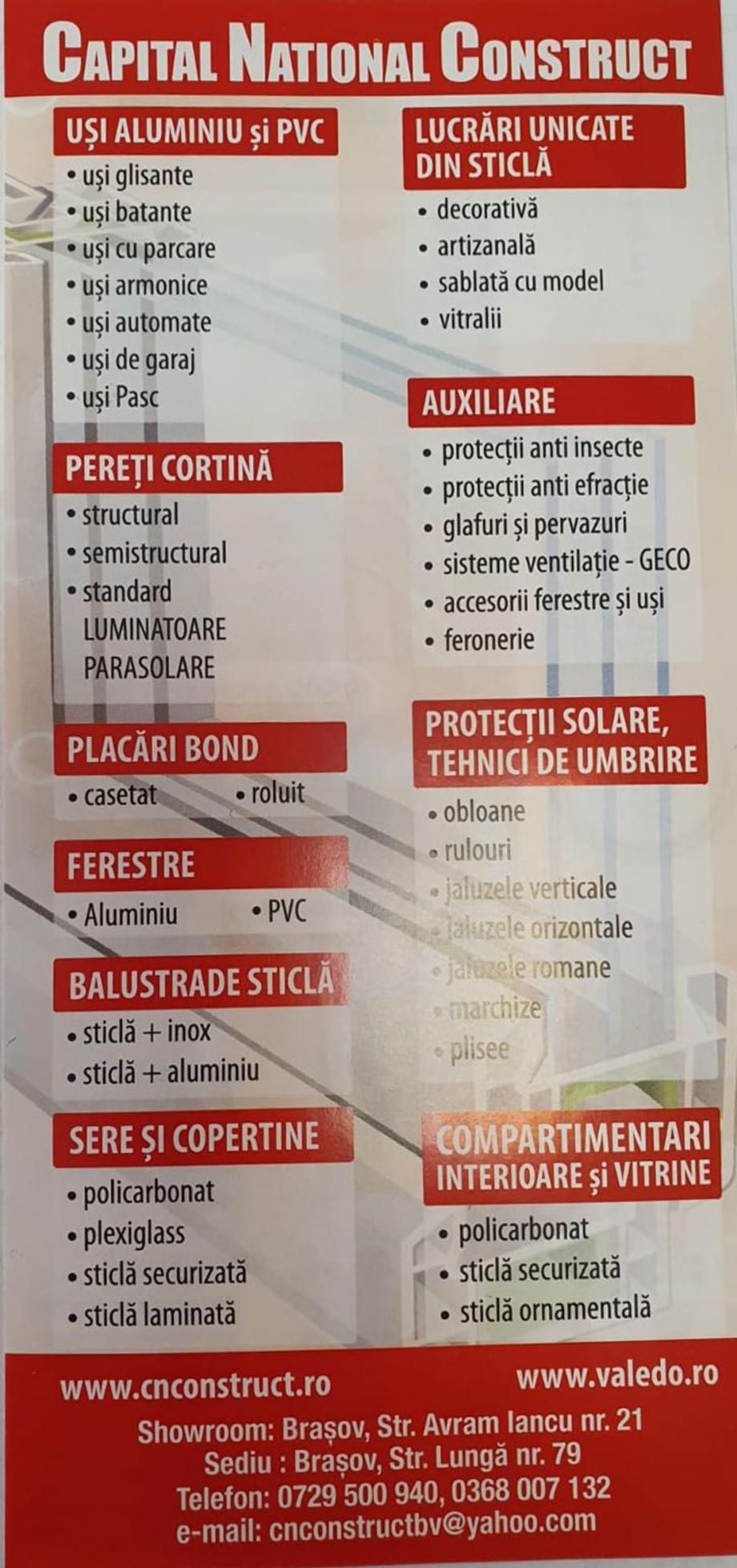 Pagina 1 - Pliant CAPITAL NATIONAL CONSTRUCT  Catalog, brosura Romana