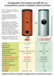Comparatie boilere solare 200 l ITECHSOL