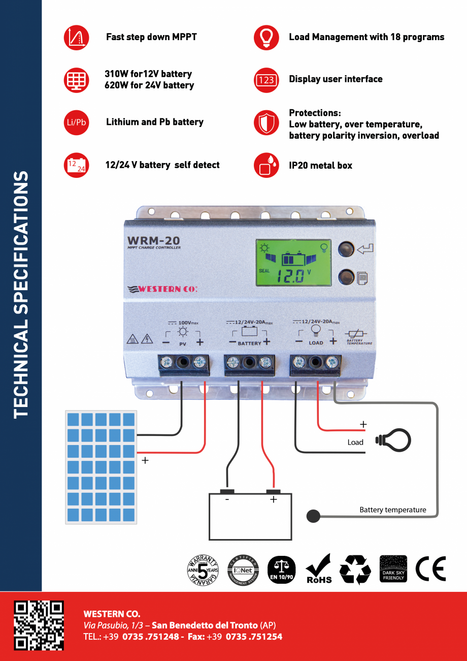 Pagina 2 - Prezentare controller solar profesional ITECHSOL MPPT WRM20 Catalog, brosura Engleza,...