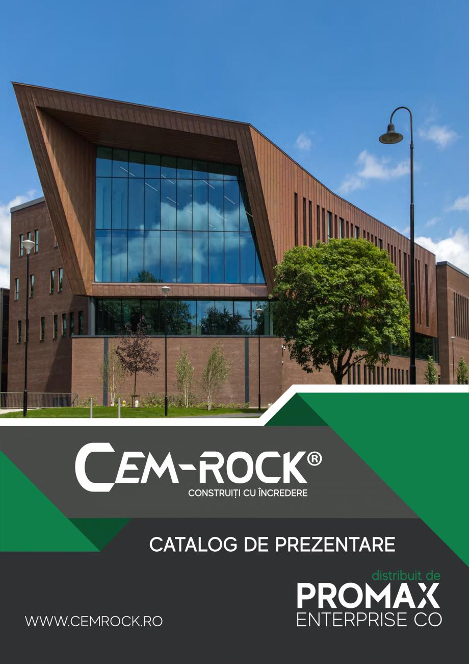 Pagina 1 - Catalog de prezentare Cem-Rock CEM-ROCK CemRock Extreme, Cemrock Lite, CemRock standard...