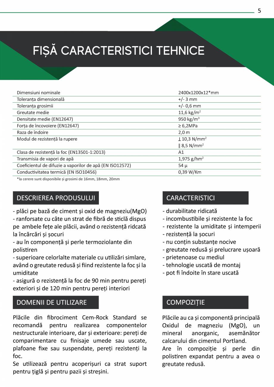 Pagina 7 - Catalog de prezentare Cem-Rock CEM-ROCK CemRock Extreme, Cemrock Lite, CemRock standard...