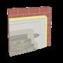 Cemrock Standard - Perete exterior din caramida placi fibrociment  placat cu piatra naturala