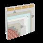 Cemrock Standard - Realizare perete exterior pe structura metalica placat cu placi fibrociment  caramida aparenta
