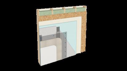 Cemrock Lite - Placare perete pe structura de lemn cu placi fibrociment Cemrock Lite Placi din