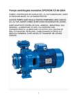 Pompa centrifugala monobloc Pompe sumersibile.ro - SPERONI CS 80-200A