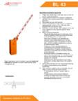 Specificatii tehnice - Bariera Automatic Systems pentru control acces perimetru Automatic Systems - BL 43
