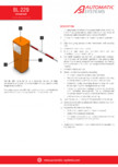 Specificatii tehnice - Bariera Automatic Systems pentru control acces perimetru Automatic Systems - BL 229
