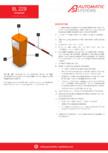 Fisa tehnica bariera bl229 Automatic Systems - BL 229