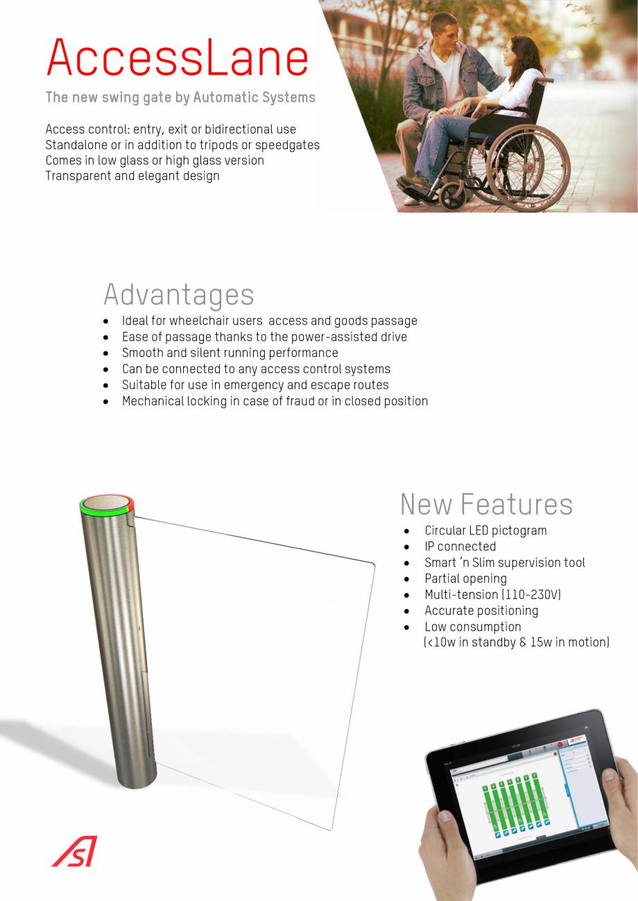 Pagina 2 - Bariera oscilanta Automatic Systems ACCESSLANE 933 Catalog, brosura Engleza