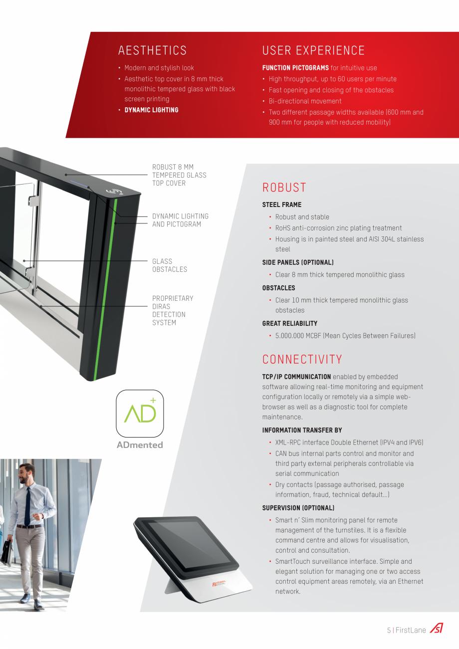 Pagina 5 - Porti batante Automatic Systems FIRSTLANE Catalog, brosura Engleza e information, fraud, ...