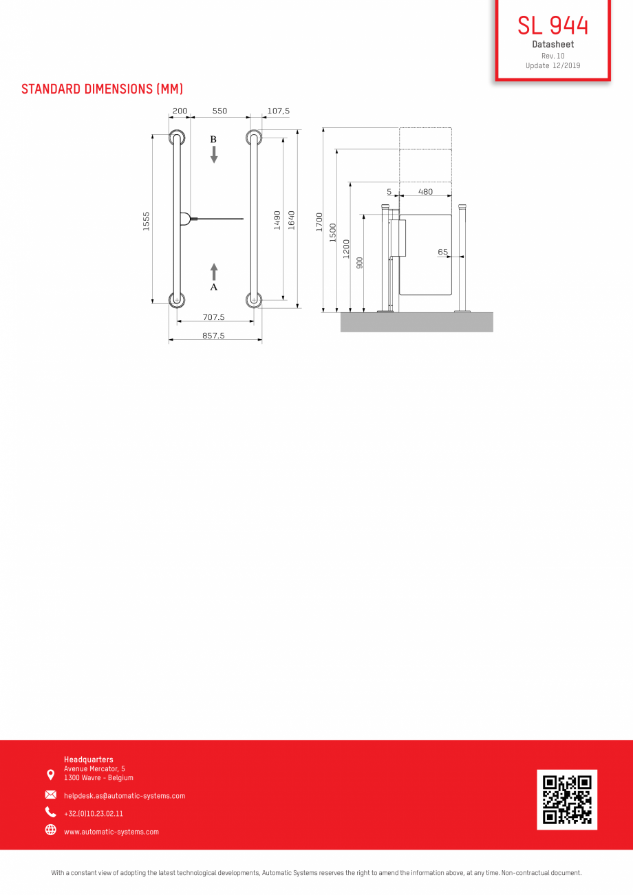 Pagina 3 - Specificatii tehnice - Porti batante - SLIMLANE 944 SC Automatic Systems SLIMLANE 944 /...