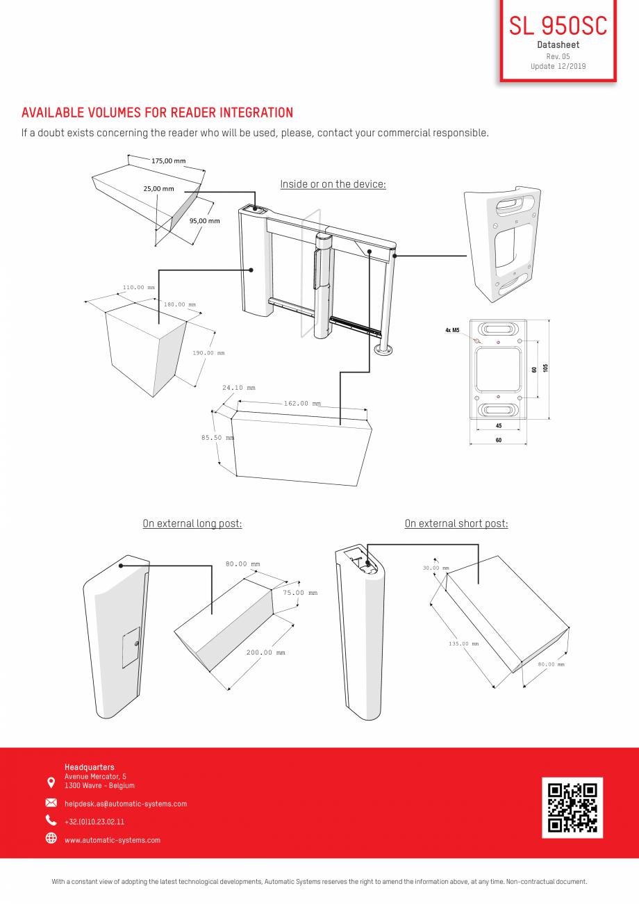 Pagina 4 - Specificatii tehnice - Porti batante - SLIMLANE 950 SC Automatic Systems SLIMLANE 950 /...