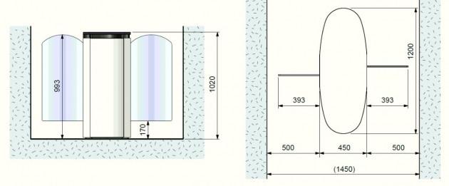 Schiță dimensiuni Porti glisante - SMARTLANE 910 TWIN