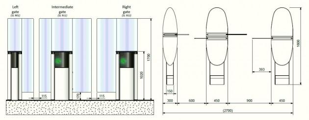 Schiță dimensiuni Porti glisante - SMARTLANE 911