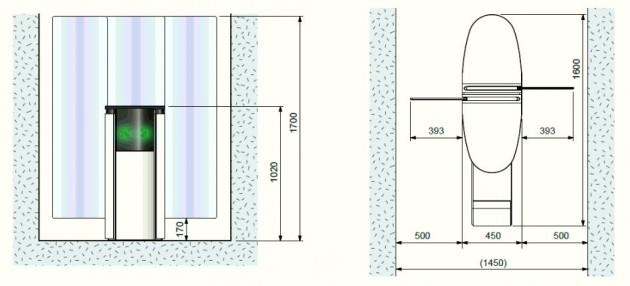 Schiță dimensiuni Porti glisante - SMARTLANE 911 TWIN