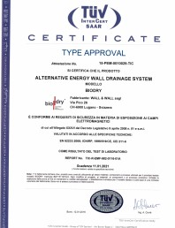 Certificat de conformitate TUV INTERCERT SAAR pentru BioDry