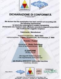 Certificat de conformitate ISOENCErtifications pentru BioDry