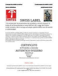 Certificat SWISS LABEL pentru BioDry
