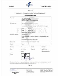 Certificat de conformitate ELETTRA pentru BioDry