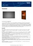 Ecran LCD Sharp/NEC Display Solutions - UN462A