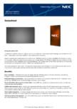 Ecran LCD  Sharp/NEC Display Solutions - UN492S