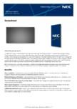 Ecran LCD Sharp/NEC Display Solutions - UN552