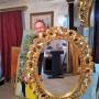 Inramare oglinda rotunda