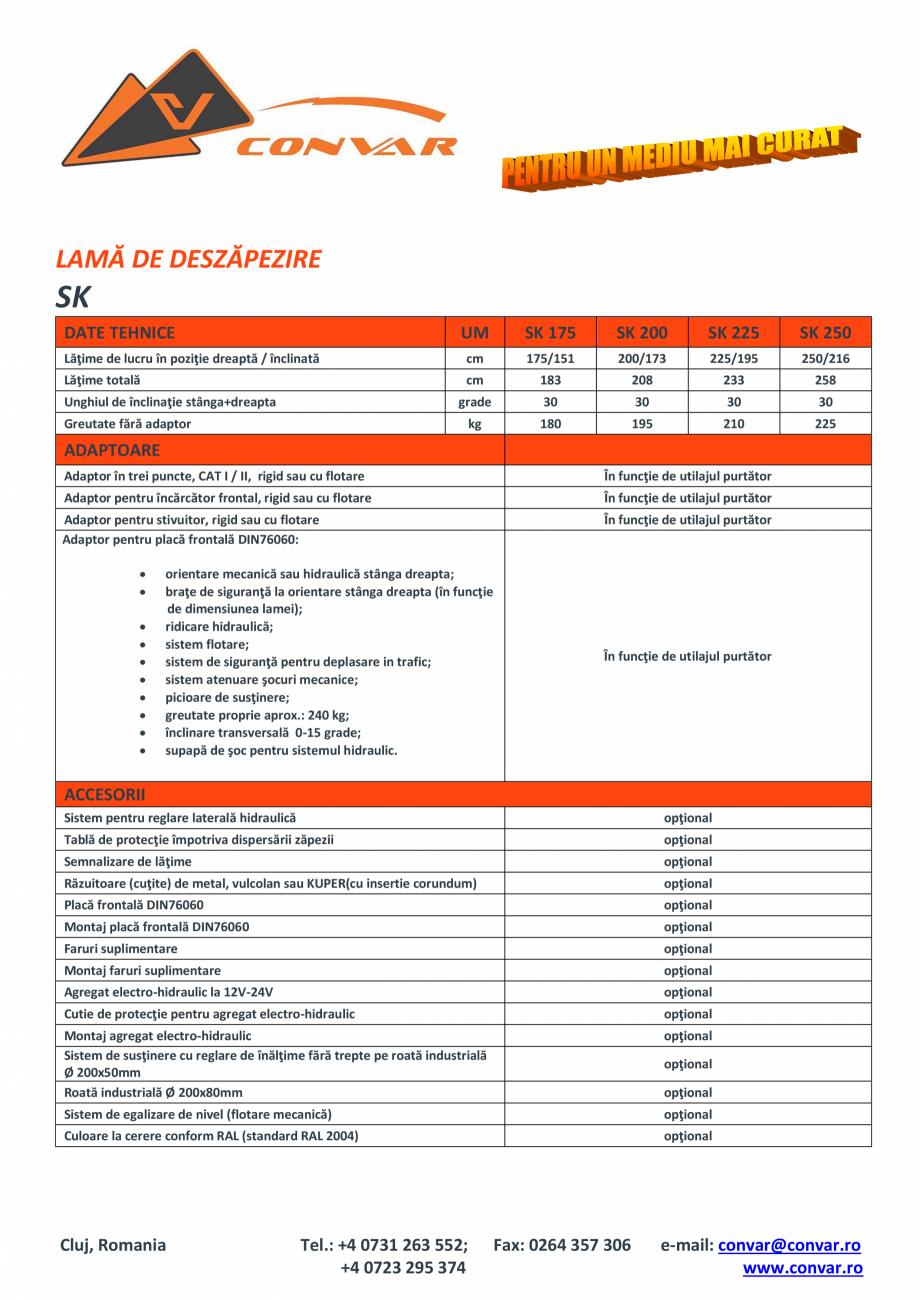 Pagina 1 - Lama de deszapezire TUCHEL SK Fisa tehnica Romana LAMĂ DE DESZĂPEZIRE  SK DATE TEHNICE ...
