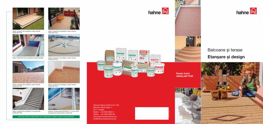Pagina 1 - DRO20130917_hadalan_5500 Hahne Catalog, brosura Romana Sistem: acoperire de suprafaţă...