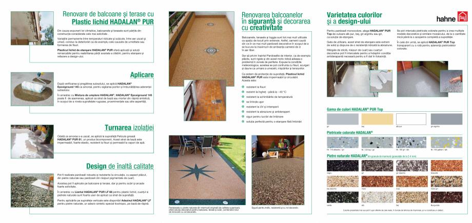 Pagina 2 - DRO20130917_hadalan_5500 Hahne Catalog, brosura Romana or în siguranţă şi decorarea...