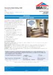 Certificare BBA 09/4687 pentru placile de constructie MARMOX