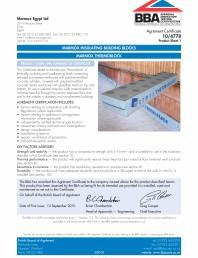 Certificare BBA 10/4779 pentr MARMOX THERMOBLOCK