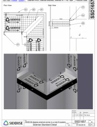 Montare bariera Siderise RH25 intr-un colt extern - SSD1657-A