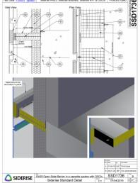 Bariera Siderise RH25 intr-un sistem de caseta de fatada - SSD1736-B