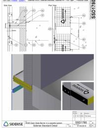 Bariera Siderise RH25 intr-un sistem de caseta de fatada  - SSD1780-A