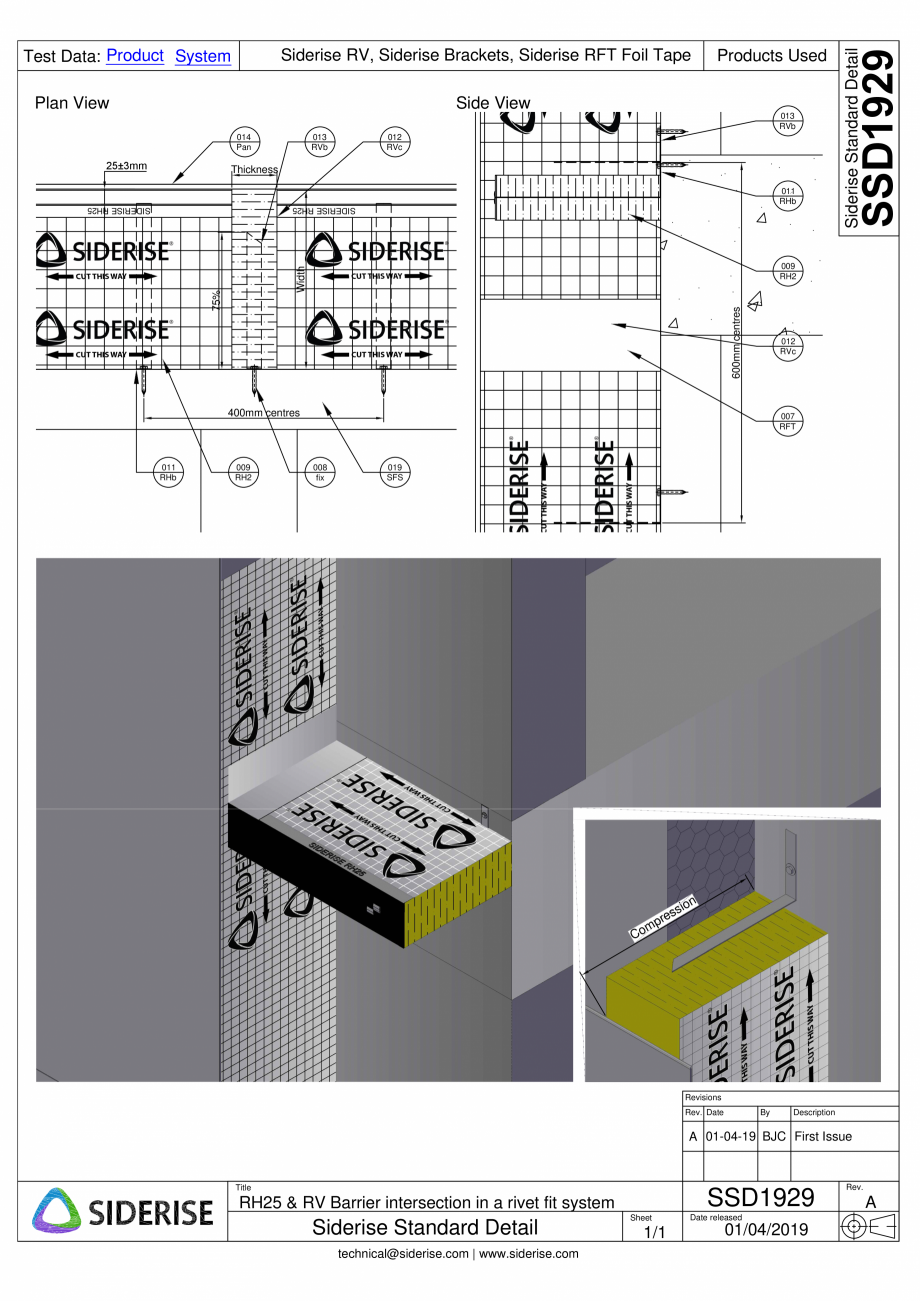 Pagina 1 - CAD-PDF Barierele Siderise RH25 & RV in sistem de fixare cu nituri - SSD1929-A...
