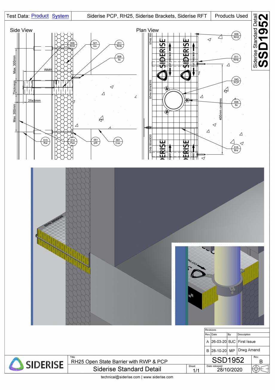 Pagina 1 - CAD-PDF Bariera Siderise RH25 - SSD1952-B Siderise Detaliu de montaj