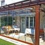 Exemplificarea utilizarii sistemului de sticla pentru inchidere terasa