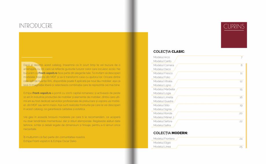 Pagina 2 - Front Vopsit Ecatalog - Colectiile Clasic si Modern  Catalog, brosura Romana a și...