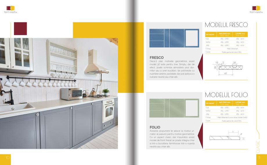 Pagina 6 - Front Vopsit Ecatalog - Colectiile Clasic si Modern  Catalog, brosura Romana t Toata gama...