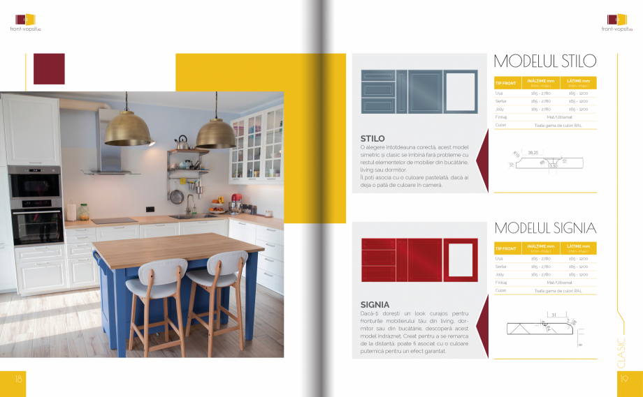 Pagina 10 - Front Vopsit Ecatalog - Colectiile Clasic si Modern  Catalog, brosura Romana de culori...