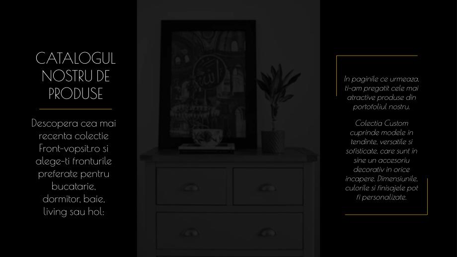 Pagina 5 - Catalog de produse - Fronturi din MDF vopsit pentru mobilier - Colectia Custom Sibo...